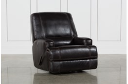 Grandin Blackberry Leather Glider Recliner