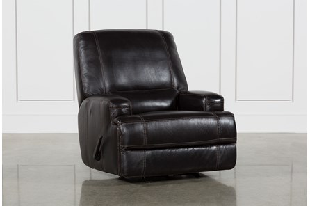 Grandin Blackberry Leather Manual Glider Recliner