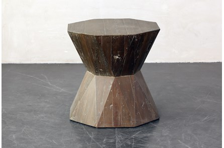 Inverted Hex End Table