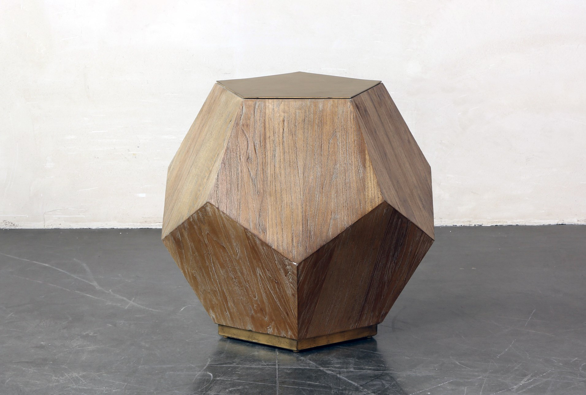 Structural Pentagon End Table Living Spaces