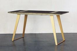 Wood Desk With Brass Legs