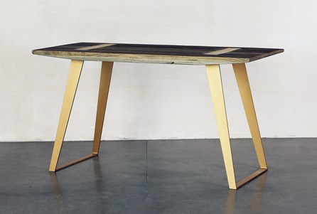 Wood Desk With Brass Legs