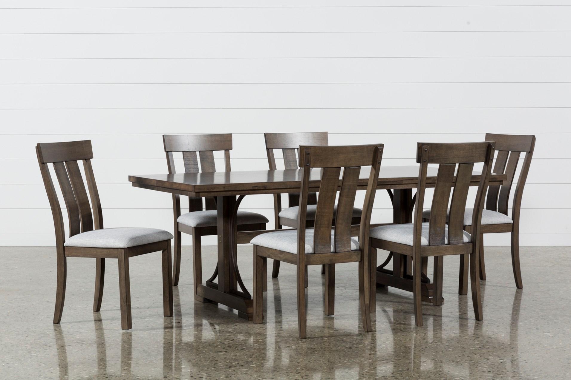 7 piece dining set round delfina piece dining set living spaces