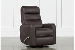 Hercules Chocolate Swivel Glider Recliner