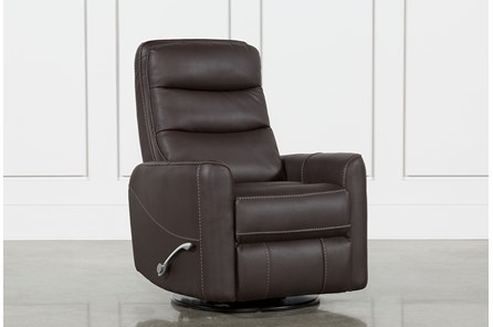 Hercules Chocolate Swivel Glider Recliner - Main