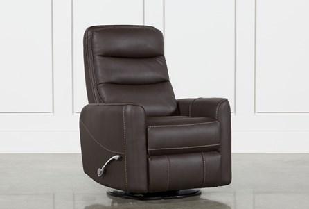 Hercules Chocolate Swivel Glider Recliner With Articulating Headrest - Main