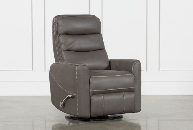 Hercules Grey Swivel Glider Recliner - 360