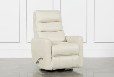 Hercules Oyster Swivel Glider Recliner With Articulating Headrest
