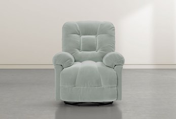 Tampa Teal Swivel Glider Recliner