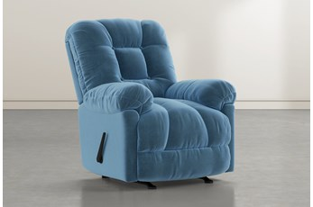 Tampa Navy Rocker Recliner