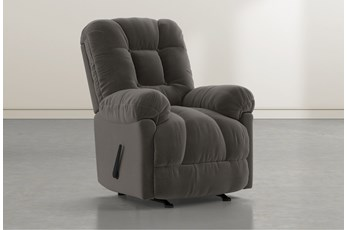 Tampa Dark Grey Rocker Recliner
