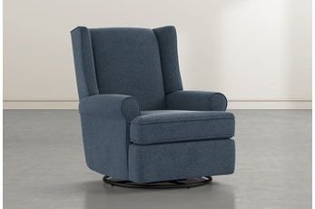 Mari Denim Swivel Glider Recliner