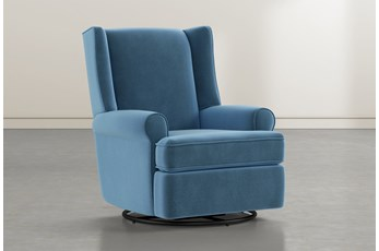Mari Navy Swivel Glider Recliner