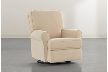 Abbey Almond Swivel Glider Recliner