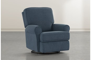 Abbey Denim Swivel Glider Recliner