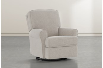 Abbey Linen Swivel Glider Recliner