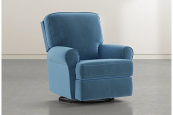 Abbey Navy Swivel Glider Recliner