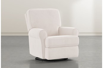 Abbey Ivory  Swivel Glider Recliner