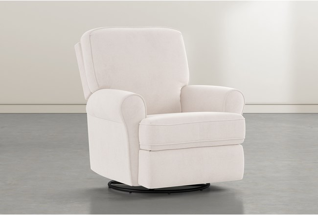 Abbey Ivory  Swivel Glider Recliner - 360