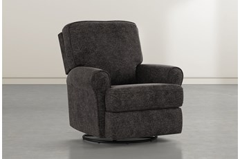 Abbey Midnight Swivel Glider Recliner