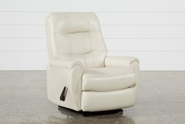 Rogan Leather Chalk Rocker Recliner