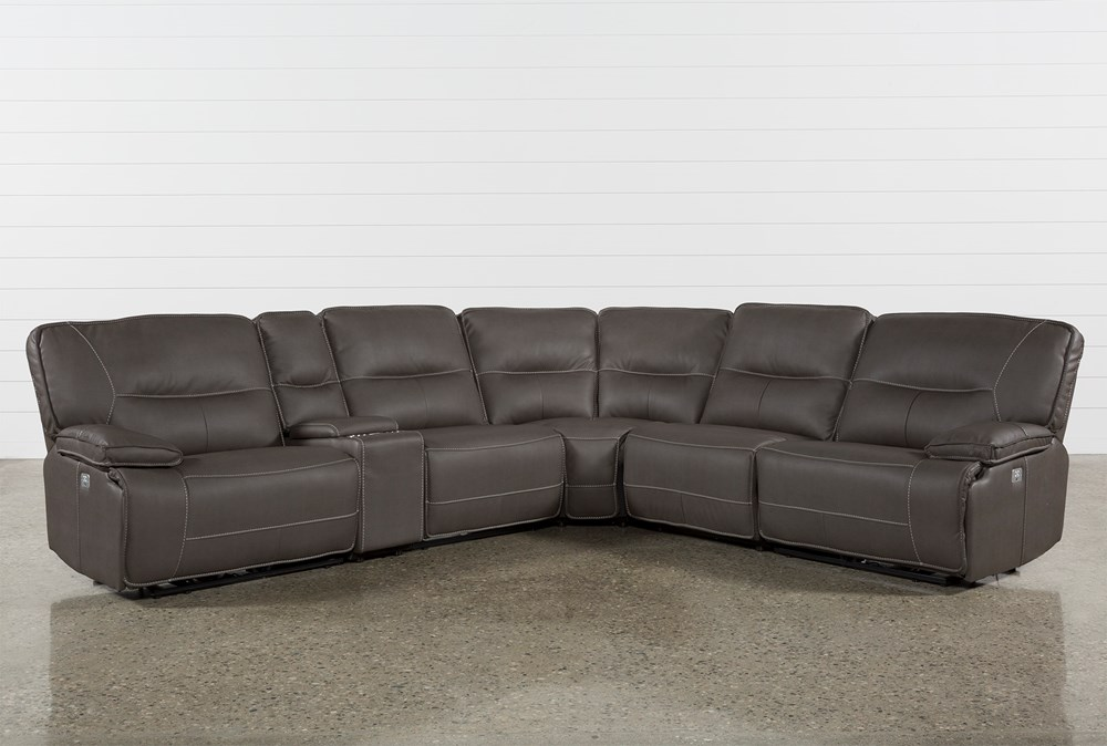 Marcus Grey 6 Piece Sectional With Power Headrest & Usb