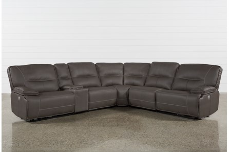 Marcus Grey 6 Piece Sectional W/ Power Headrest & Usb
