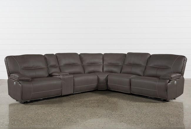 Marcus Grey 6 Piece Sectional W/ Power Headrest & Usb - 360
