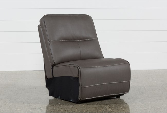 Marcus Grey Armless Chair - 360