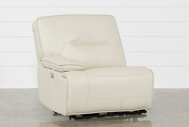 Marcus Oyster Left Facing Power Recliner W/Power Headrest And Usb - 360