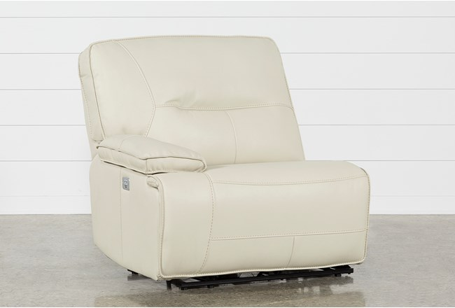 Marcus Oyster Laf Power Recliner W/Power Headrest And Usb - 360