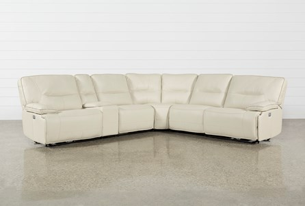Marcus Oyster 6 Piece Sectional W/Power Headrest And Usb
