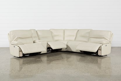Marcus Oyster 6 Piece Sectional WithPower Headrest And Usb