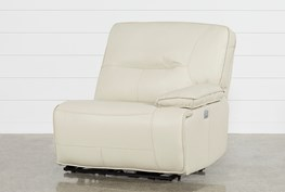 Marcus Oyster Raf Power Recliner W/Power Headrest And Usb
