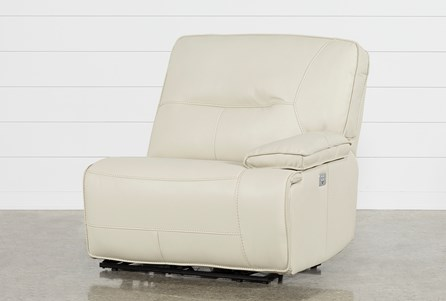 Marcus Oyster Right Facing Power Recliner W/Power Headrest And Usb