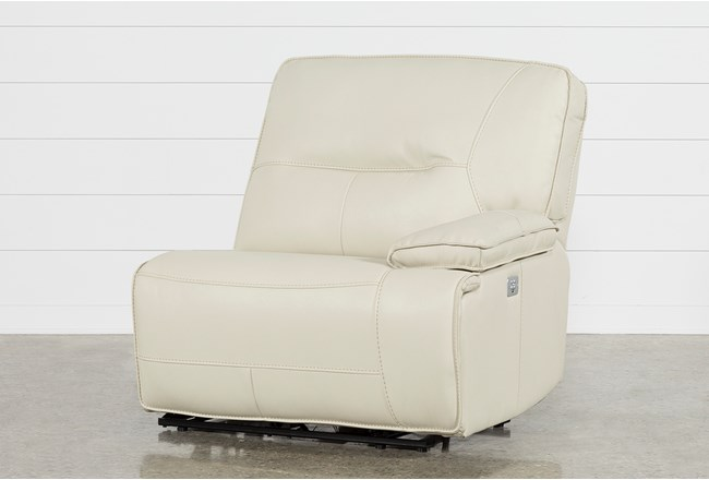 Marcus Oyster Right Arm Facing Power Recliner W/Power Headrest And Usb - 360
