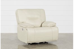 Marcus Oyster Power Recliner W/Power Headrest And Usb