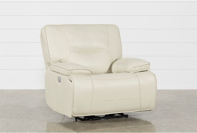 Marcus Oyster Power Recliner W/Power Headrest And Usb - 360