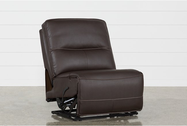 Marcus Chocolate Armless Recliner - 360