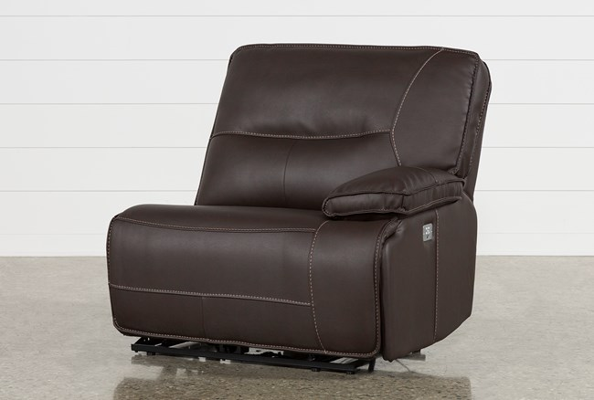 Marcus Chocolate Right Facing Power Recliner W/Power Headrest And Usb - 360