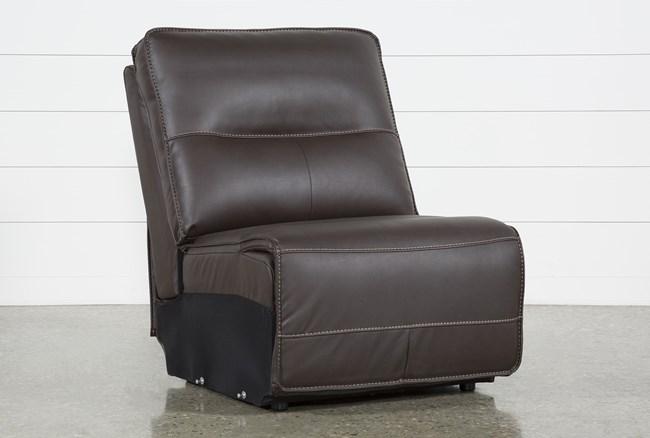 Marcus Chocolate Armless Chair - 360