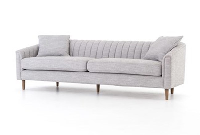 Manor Grey Channel Back Sofa - 360