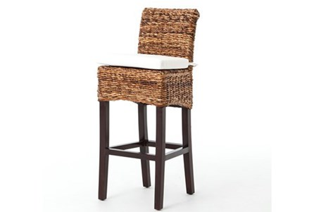 Banana Leaf Bar Stool With Cushion