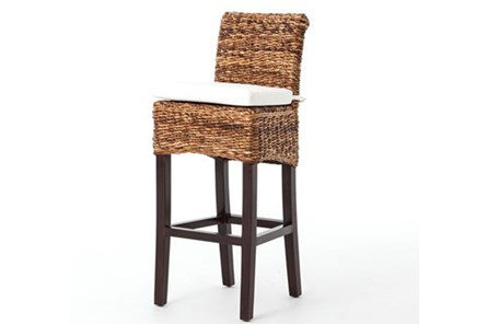 Banana Leaf Bar Stool With Cushion - Main