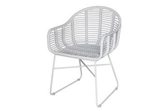 White Modern Wicker Chair
