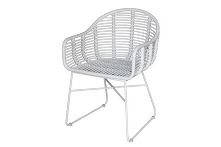 White Modern Wicker Chair