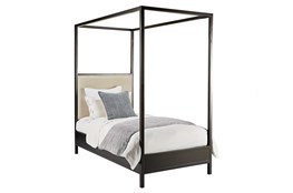 Magnolia Home Framework Twin Upholstery Canopy Bed By Joanna Gaines