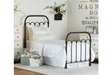 Magnolia Home Colonnade Twin Metal Panel Bed By Joanna Gaines - Room