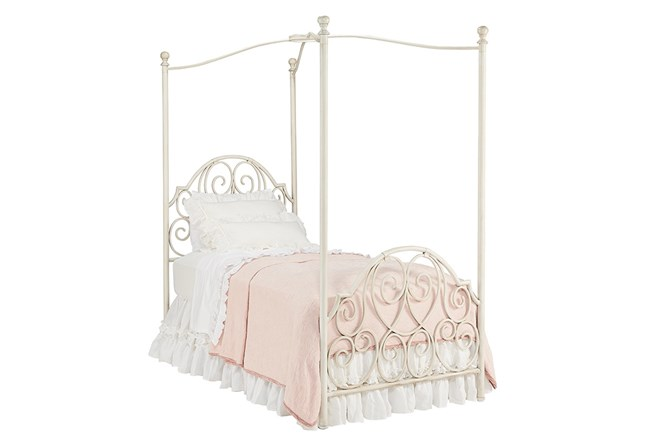 Magnolia Home Garden Gate Full Canopy Bed By Joanna Gaines - 360