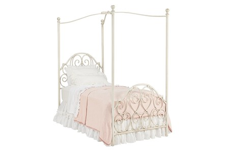 Magnolia Home Garden Gate Twin Canopy Bed By Joanna Gaines